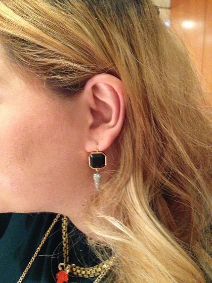 Black Jewel Drop Earring