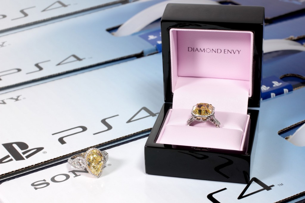 diamond ring and PS4