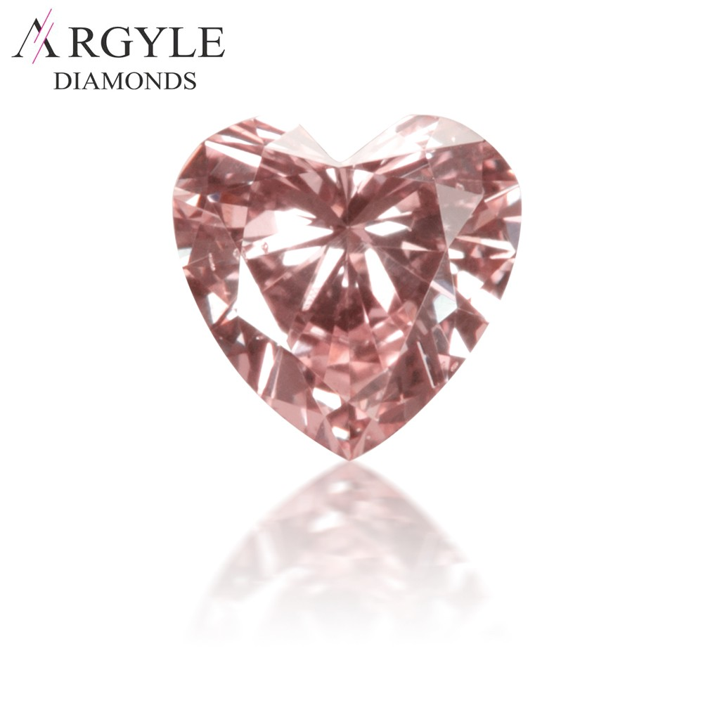0.19 carat Natural Fancy Pink Heart-Shaped Argyle Diamond