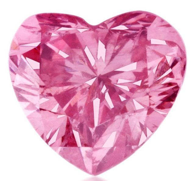 0.37 Carat Natural Fancy Pink Heart-Shaped Argyle Diamond
