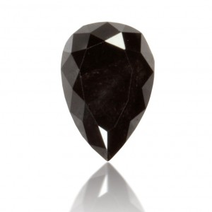 Black pear-shaped diamond