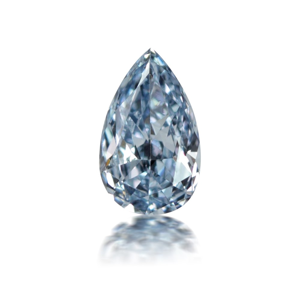 This 0.14 carat pear-shaped Fancy Intense Blue diamond is sure to knock your socks off.
