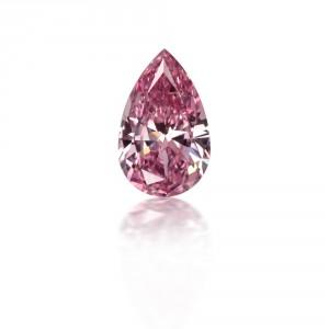 Pear Shaped Fancy Vivid Purplish Pink Diamond
