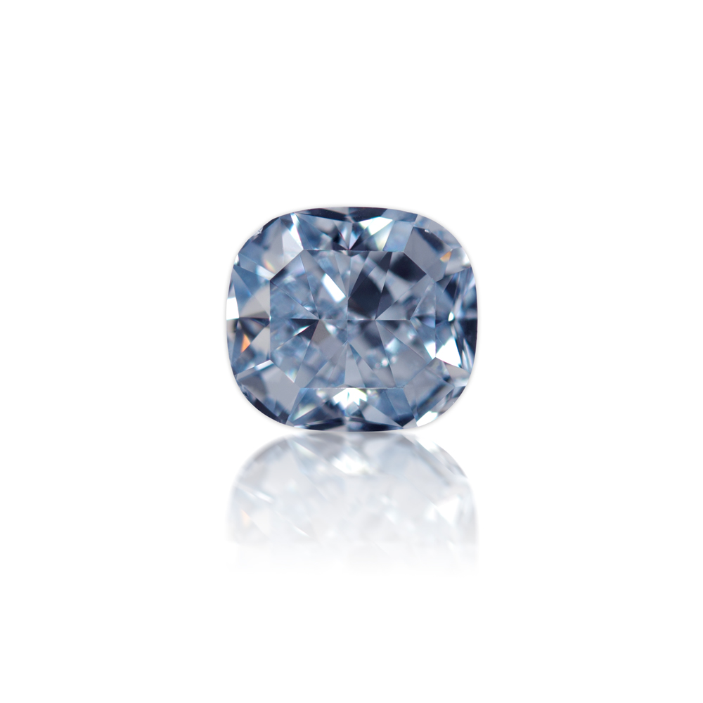 1.07 carat Cushion Cut Fancy Intense Blue Diamond