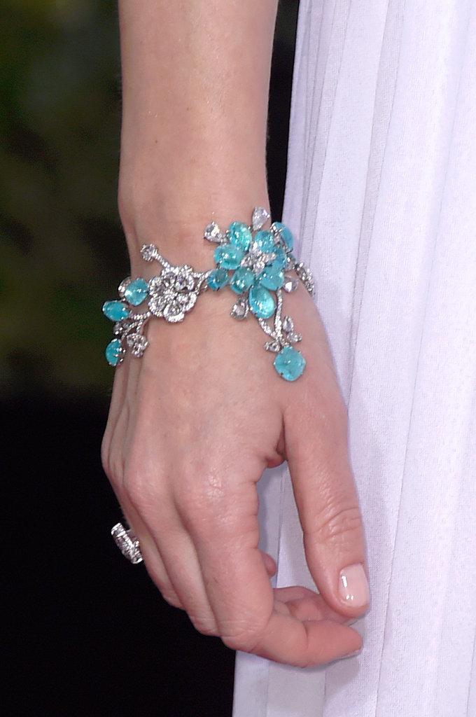 Emily Blunt floral bracelet Golden Globes 2015