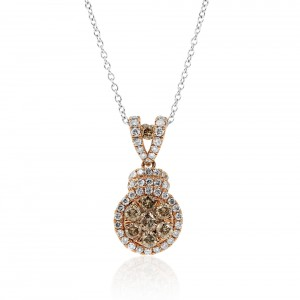 natural champagne diamond necklace