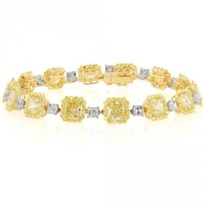 natural fancy yellow diamond bracelet