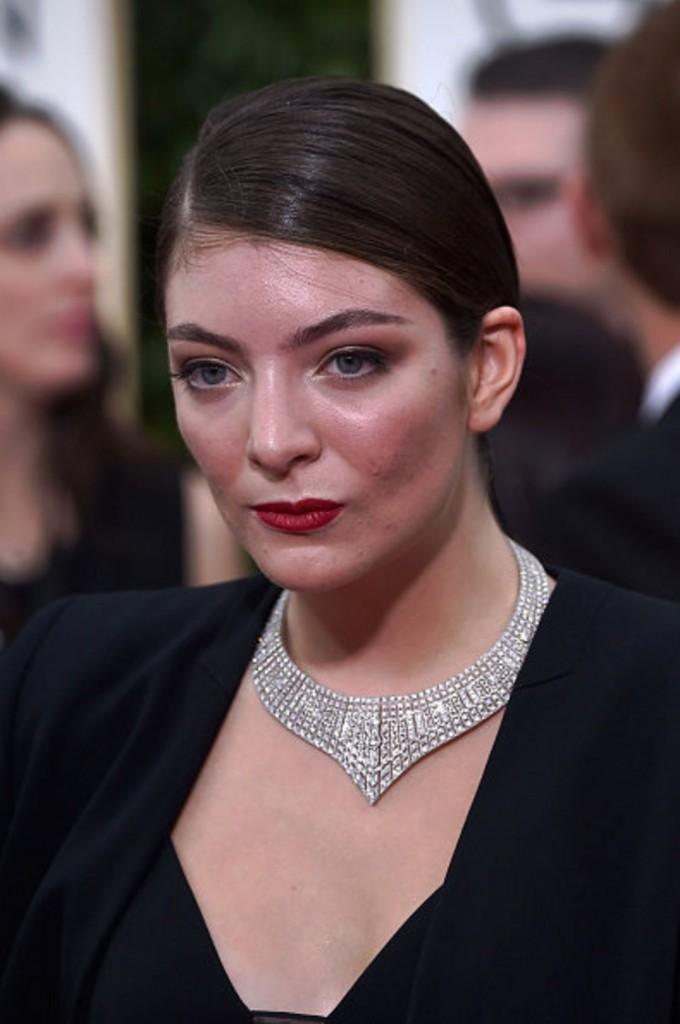 Lorde diamond collar Golden Globes 2015