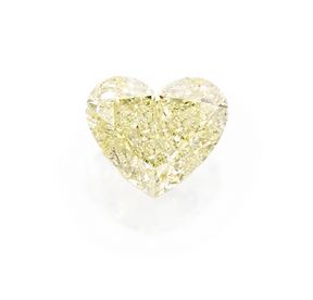 Fancy Light Yellow Diamond Pendant Necklace in Platinum and 18K Gold