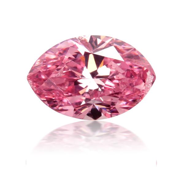 Marquise 0.50 carat Fancy Vivid Purplish Pink diamond