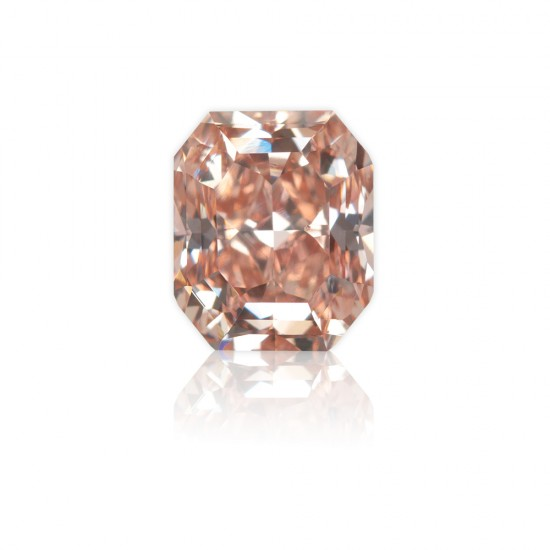 7.25 Carat Fancy Intense Pink Diamond Ring in 18K Two-Tone Gold