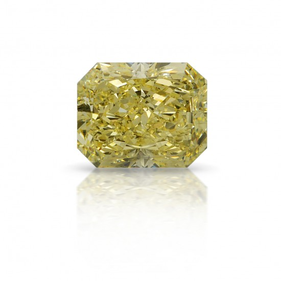 4.02 Carat Radiant Fancy Yellow Diamond