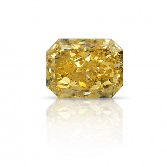 3.04 Carat Radiant Natural Fancy Intense Yellow Diamond
