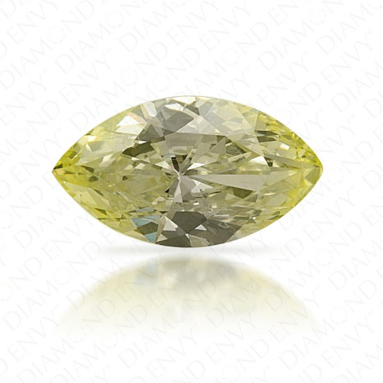 0.85 Carat Marquise Natural Fancy Light Green-Yellow Diamond