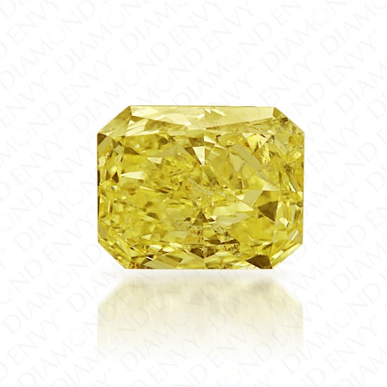 0.41 Carat Radiant Fancy Yellow Diamond