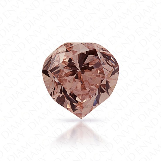 0.89 Carat Heart Shape Natural Fancy Pink-Brown Diamond