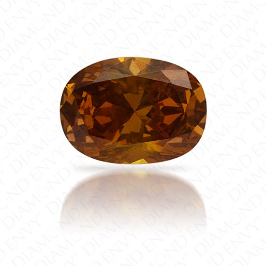 0.54 Carat Natural Fancy Deep Brownish Yellowish Orange Diamond