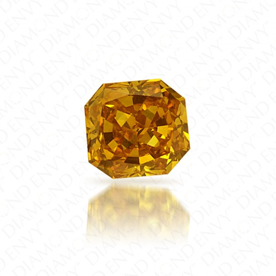 0.19 Carat VS1 Radiant Fancy Vivid Orange-Yellow Diamond