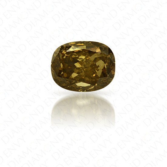 0.15 Carat Oval Natural Fancy Grayish Greenish Yellow Diamond