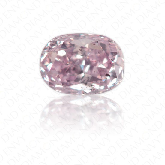 0.19 Carat Oval Natural Fancy Purple-Pink Diamond