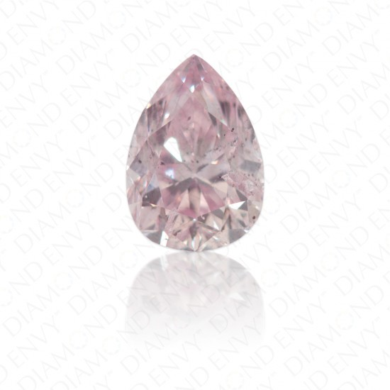 0.27 Carat Pear Shape Natural Fancy Purplish Pink Diamond