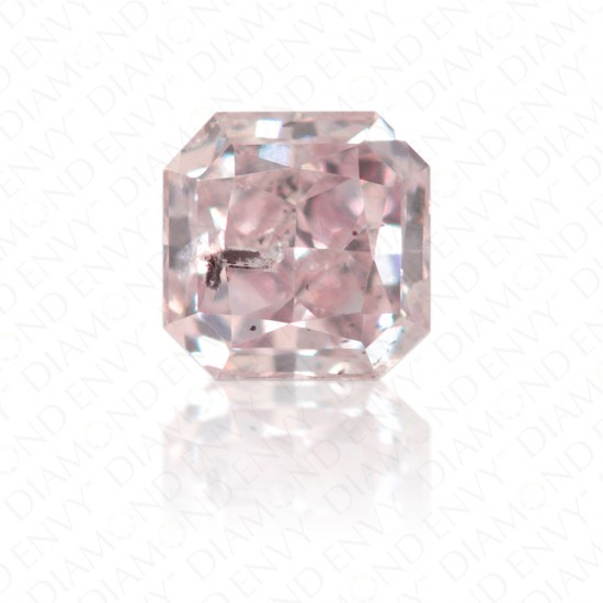 0.28 Carat Radiant Natural Fancy Purplish Pink Diamond