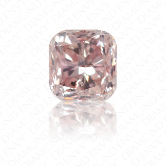 0.24 Carat Cushion Natural Fancy Brownish Pink Diamond