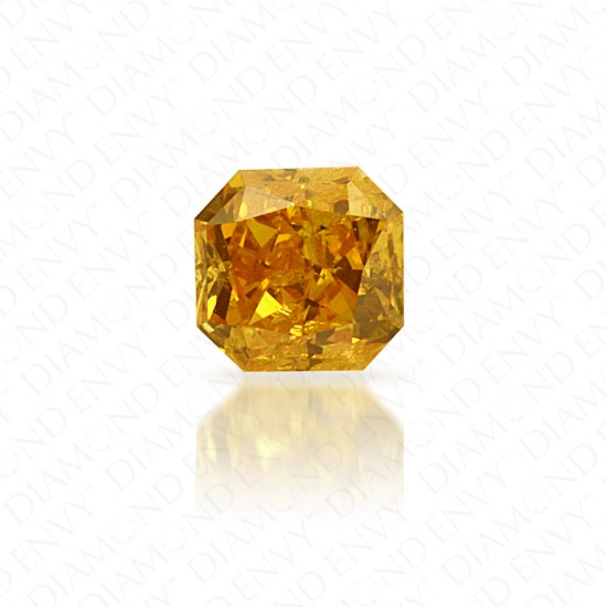 0.21 Carat Radiant Natural Fancy Intense Orange-Yellow Diamond