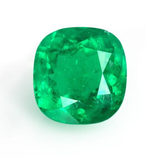18.76 Carat Cushion Cut Natural Emerald