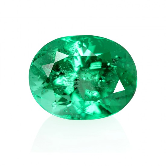 9.20 Carat Oval Cut Natural Emerald