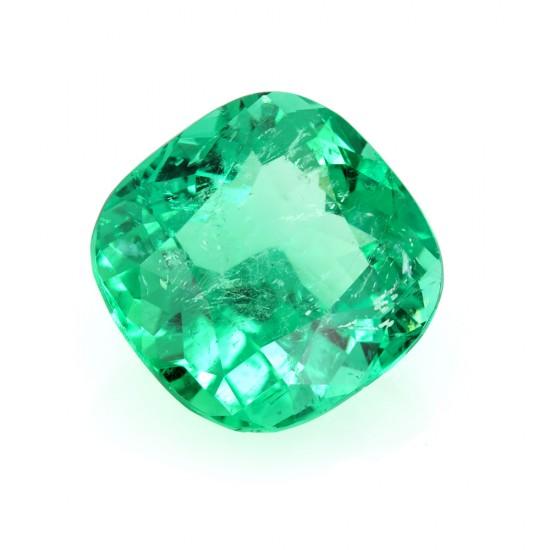 15.02 Carat Cushion Cut Natural Emerald