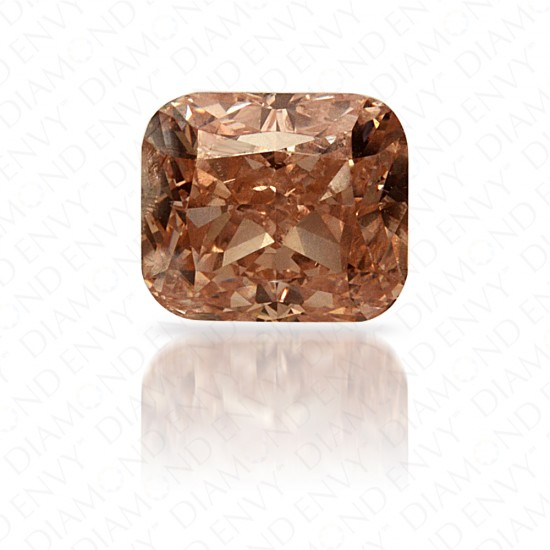 0.70 Carat Cushion Natural Fancy Brownish Orangy Pink Diamond