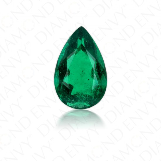 3.71 Carat Natural Pear Shaped Emerald