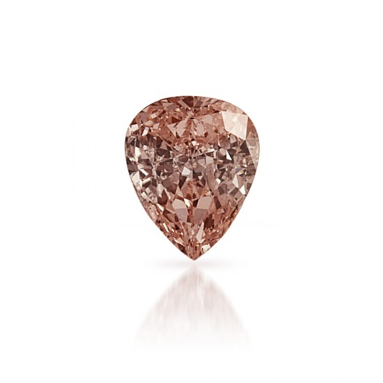 0.45 Carat Pear Shape Fancy Light Pink-Brown Diamond