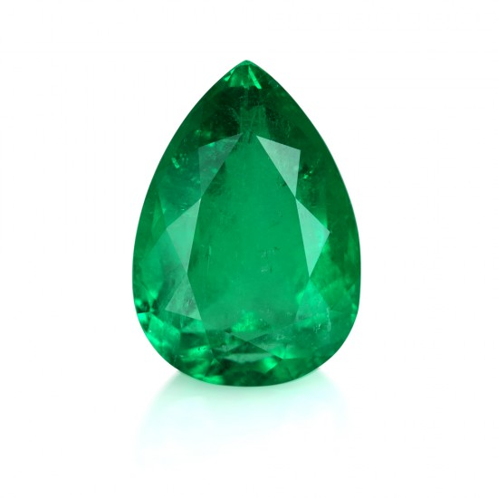 20.30 Carat Pear Shaped Natural Emerald
