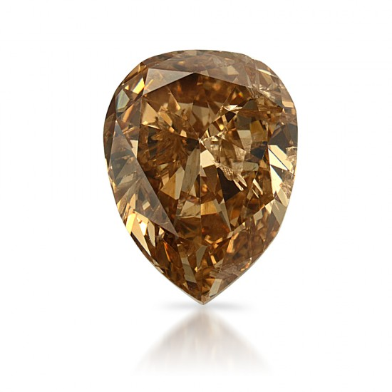 1.46 Carat Pear Shape Natural Fancy Brown-Yellow Diamond