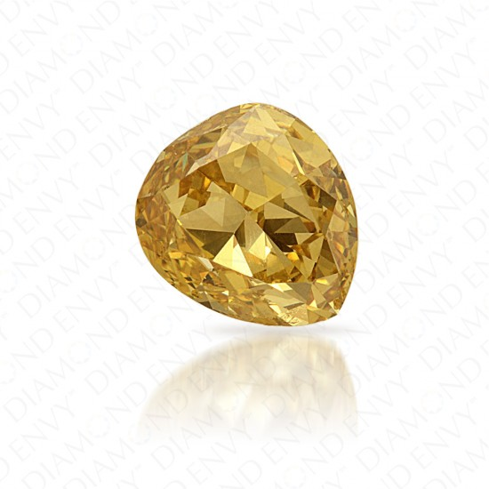 0.99 Carat Pear Shape Fancy Deep Yellow Diamond