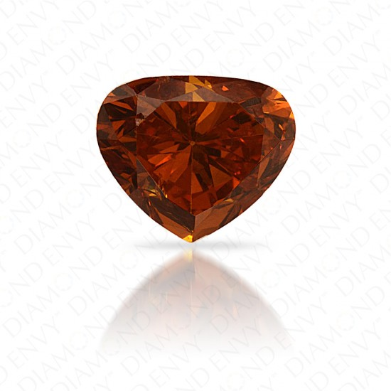 0.99 Carat Heart Shape Natural Fancy Deep Yellow-Orange Diamond