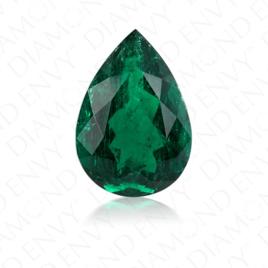 14.96 Carat Natural Pear Shaped Emerald
