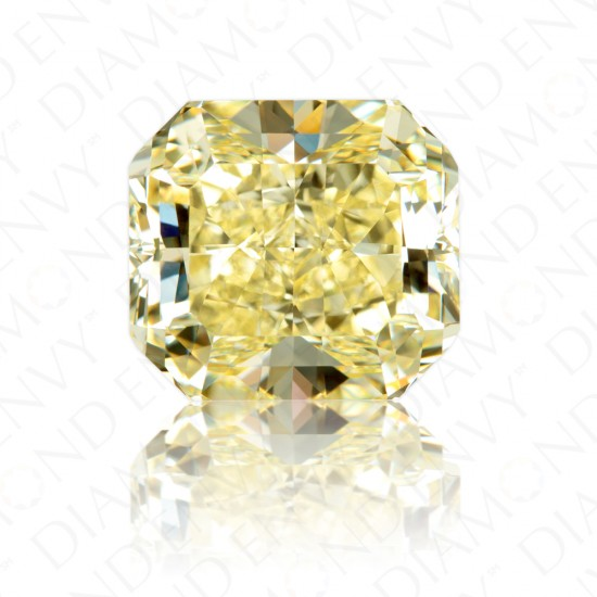 11.26 Carat Radiant Cut Natural Fancy Intense Yellow Diamond