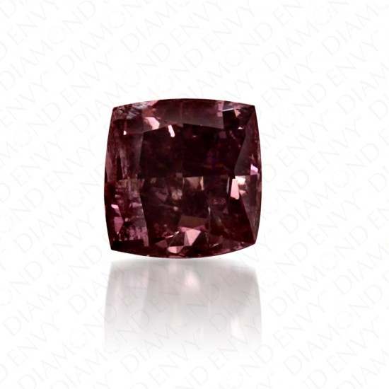0.29 Carat Princess Cut Natural Fancy Deep Brown-Purple Diamond