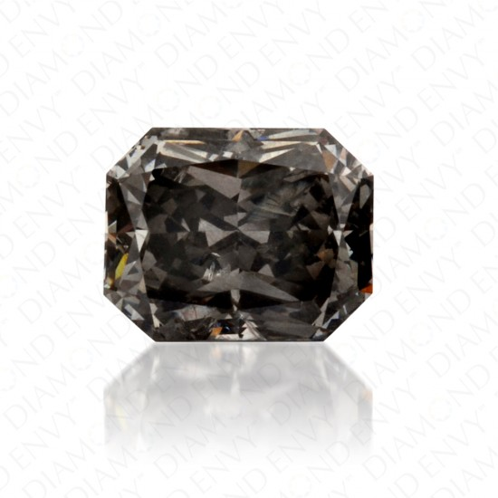 0.55 Carat Radiant Natural Fancy Grey Diamond
