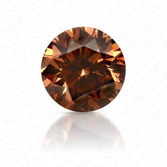 1.63 Carat Round Brilliant Fancy Orange-Brown Diamond