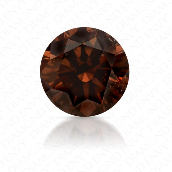 1.26 Carat Round Brilliant Fancy Dark Orangy Brown Diamond