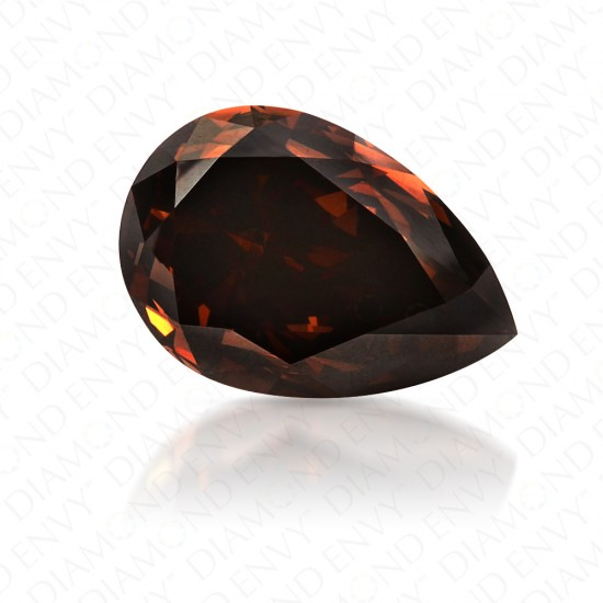 2.01 Carat VS1 Pear Shape Fancy Dark Orangy Brown Diamond