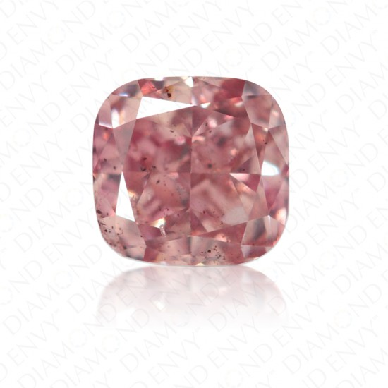 0.37 Carat Cushion Natural Fancy Brownish Pink Diamond