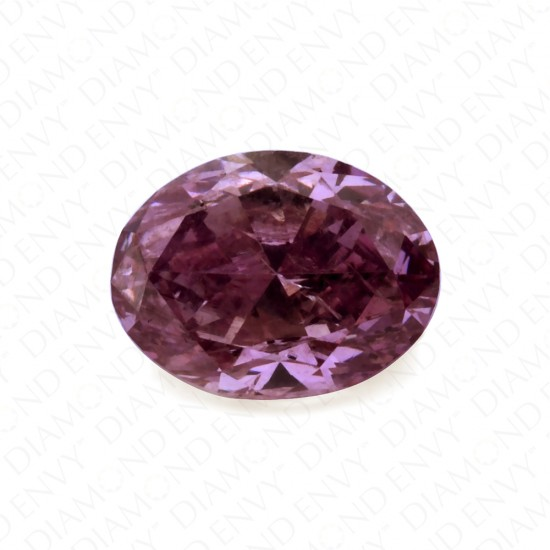 0.31 Carat Oval Natural Fancy Deep Purple-Pink Diamond