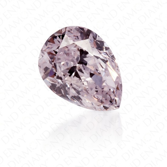 0.54 Carat Pear Shape Natural Light Pink Diamond