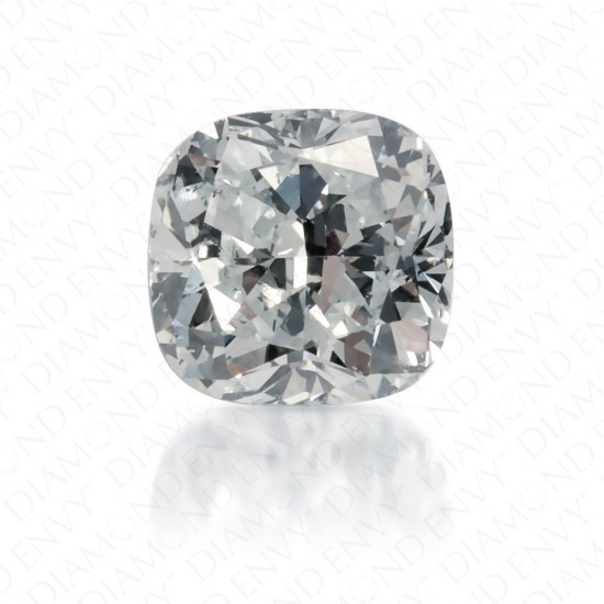 0.55 Carat Cushion Natural Very Light Green Diamond