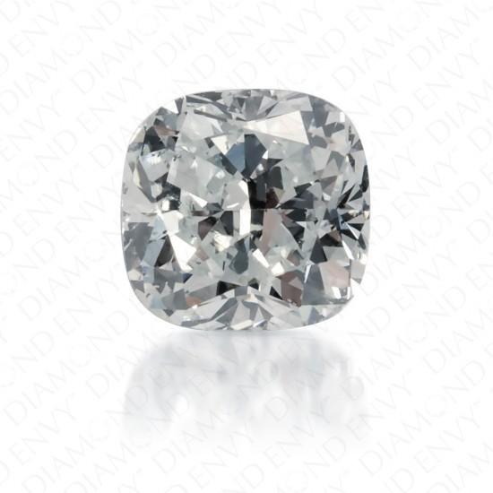 0.55 Carat Cushion Natural Very Light Green Diamond